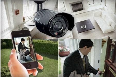 kit video surveillance HD 720p pour maison et commerce
